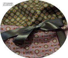 Stoffpakete - Stoffpaket♥Loop DIY Retro-Ornament-grau+ Schleife - ein Designerstück von kreawusel-aufgehuebscht bei DaWanda