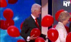 Bill Clinton Gleefully Playing With Balloons Was the Best Part of the DNC  - Esquire.com