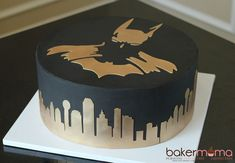 Black and gold batman cakeYou can find Batman cakes and more on our website.Black and gold batman cake Batman Wedding Cakes, 30th Birthday Cakes For Men, Batman Birthday Cakes, Pink Birthday Cakes, Batman Cakes, Batman Grooms Cake, Black And Gold Cake, Black Gold, One Direction Cakes