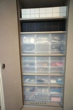 【リビングのクローゼットの中の収納】無印の引き出しを活用中 :: l o v e BLACK 収納 & インテリア|yaplog!(ヤプログ!)byGMO Muji Storage, Muji Style, Storage Organization, Storage Ideas, Woman Cave, Dream Rooms, My Room, Furniture Decor, Washing Machine