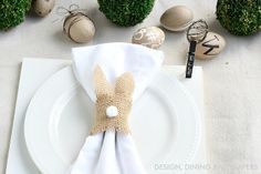 Neutral Easter Place Setting via @Taryn {Design, Dining + Diapers}