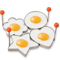 Guestway Egg Pancake Ring Molds Kitchen Cooking Tool Safe Stainless Steel 304 Fun Breakfast 4PCS >>> To view further for this item, visit the image link.Note:It is affiliate link to Amazon.