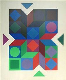 Sonia Delaunay: Geometric Shapes,1950