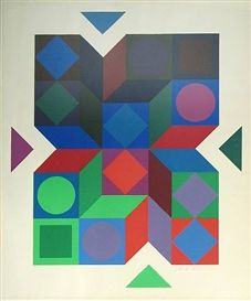 Sonia Delaunay #geometricshapes #1950