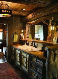 Rustic Bathroom Decoration For House