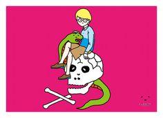 今週のとんぼせんせい「ドクロとヘビとガール」