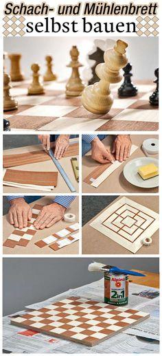 Du spielst gerne Schach oder Mühle, hast aber kein Brett? Dann baue es dir doch einfach selbst. Unsere Bauanleitung zeigt dir, wie es geht.