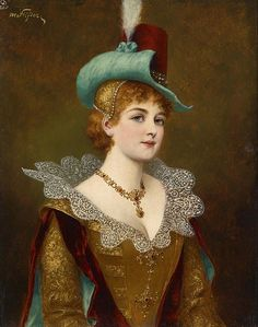 Author 	 Moritz Stifter (1857–1905) Link back to Creator infobox template wikidata:Q23959668 Description 	  Austrian painter Date of birth/death 	1857-1905 Description: German: Edeldame Date by 1905 Medium: oil on panel Dimensions: 26 x 21 cm Inscriptions: Text verso Signature top left: M. Stifter