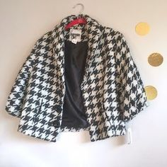 I just discovered this while shopping on Poshmark: Kensie Girl Houndstooth Jacket NWT. Check it out! Price: $65 Size: M