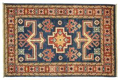 kazak rug + royal blue - Google Search