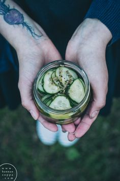 pickled fennel cucumbers  / Hannan soppa