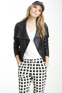 Agena Leather Jacket by Muubaa on @HauteLook  Unexpected Combinations
