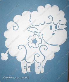 Поделка изделие Новый год Вырезание Вытынанки овечки Бумага фото 1