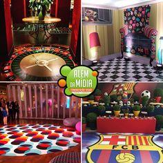 Festa decorada com adesivo de vinil produzido pela empresa Além da Mídia.