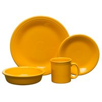 Fiesta Four Piece Place Setting With Java in Marigold.