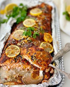 Baked Trout, Tasty, Yummy Food, Key Lime Pie, Baby Food Recipes, Food Baby, Tandoori Chicken, Seafood, Recipies