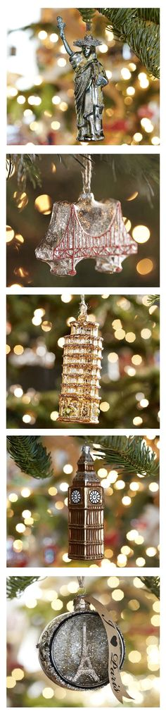 Love these famous landmark ornaments - so perfect for the jet setter!  http://rstyle.me/n/dk3fynyg6