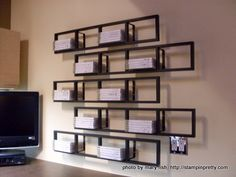 i store my clear mount stamps on these ikea dvd racks