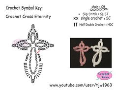 Crochet Symbol Charts - Crochet Hieroglyphics: Crochet Lace Eternity Cross