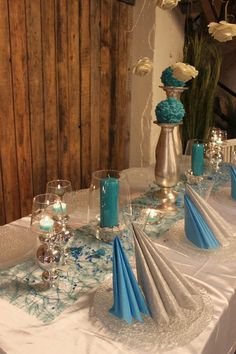 Løiten Lys | Løiten Brænderi |Borddekking - konfirmasjon Reception Decorations, Table Decorations, Wedding Designs, Table Settings, Party, Decor Ideas, Beautiful, Home Decor, Mesas