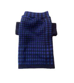 Small Handmade Electric Blue Dog Sweater
