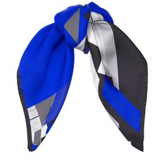 The Jimmy Choo china blue and black printed silk twill scarf