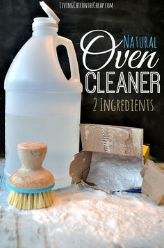 ***DIY Natural Oven Cleaner (2 Ingredients)*** I love this cleaner because it is pretty much does the work for you. I also like it because it is natural and it is super inexpensive. Plus, you probably already have the 2 ingredients you need to make this today. I am not a fan of chemical commercial oven cleaners. After I read the warning label I realized a dirty oven could be the least of my worries.#DIYcleaner #Householdtips