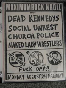 US Punk Flyers - Punk Memorabilia - Punk Posters - The Germs - Dead Kennedys