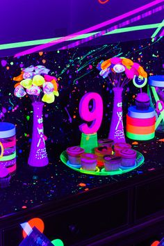 Ready for a birthday bash that will make her scream? Don't miss the ideas in this Glow Dance Birthday Party at Kara's Party Ideas! Dance Party Birthday, Neon Birthday, Birthday Party Themes, Princess Birthday, Birthday Ideas, Glow Party Decorations, Birthday Party Centerpieces, Tangled Party, Tinkerbell Party