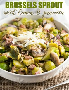 Brussels Sprout with Lemon & Pancetta - This recipe made me love ...
