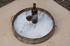 wine barrel cover tray - Google Search
