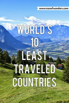 World's 10 Least Traveled