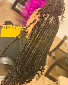 Top 60 All the Rage Looks with Long Box Braids - Hairstyles Trends Braided Hairstyles For Black Women, African Braids Hairstyles, Weave Hairstyles, Girl Hairstyles, Hairstyles 2016, African Box Braids, Individual Braids Hairstyles, Glamorous Hairstyles, African Braids Styles