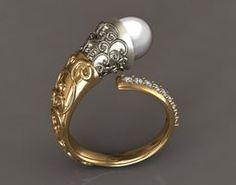 vintage pearl  ring 3D Model
