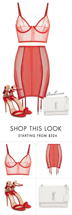 """Untitled #335"" by ariellagem ❤ liked on Polyvore featuring Salvatore Ferragamo and Yves Saint Laurent"