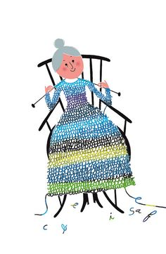 After knitting herself this dress, Granny decided to stab herself in the neck with the needles.