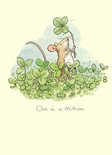 Two Bad Mice Greeting Card - One in a Million by Anita Jeram (Guess How Much I Love You illustrator)