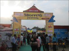 "Krishna Bhumi stall at ""Mega Bazzar"" shopping festival."