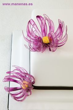 Detalle de la flor de gelatina. Gelatine flower. En Manenas.