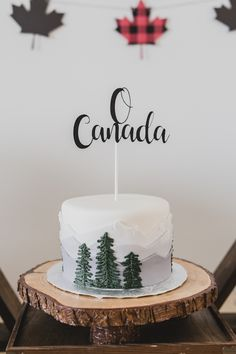 Dying to share some Canadian patriotism for Canada Day? If so, feast your maple eyes on this adorable Canada Day Celebration at Kara's Party Ideas! First Birthday Cakes, Birthday Parties, Mountain Cake, Mountain Biking, Farewell Cake, Canada Day Party, Camping Cakes, Bike Cakes, Celebration Love