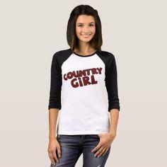 Buffalo Plaid Country Girl Shirt  $26.65  by Wild_Honey_Designs  - cyo customize personalize unique diy idea