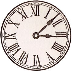 Free Printable Antique Clock Face Graphics from School Book - from KnickofTime.net