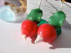 Radish Earrings Harry Potter Luna Lovegood Miniature by 7lifes, $12.00