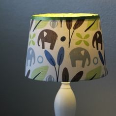 Customize any lampshade with your favorite fabric using this easy DIY tutorial.