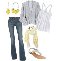 More gray and yellow...clearly a fave color combo of mine