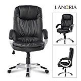 LANGRIA Big and Tall Office Chair Executive Chair with Padded Arms, High-Back Faux Leather Swivel Chair,... Always getting the Right Seat LANGRIA's leather executive chair constructed with soft PU https://thehomeofficesupplies.com/langria-big-and-tall-office-chair-executive-chair-with-padded-arms-high-back-faux-leather-swivel-chair-pneumatic-seat-height-adjustment-reclining-ergonomic-chair-lroc-028-max-330-lbs-black/