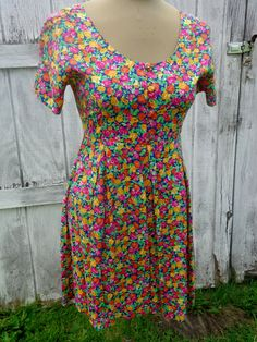 Vintage 90s Floral Romper The Limited Babydoll Mini by BosVintage