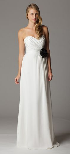 Style 617. Gathered strapless sweetheart wedding dress with built in waistband.  Available at Carrie Karibo Boutique Cincinnati, Ohio www.carriekaribo.com