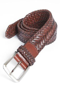 Trafalgar 'Brady' Braided Leather Belt | Nordstrom