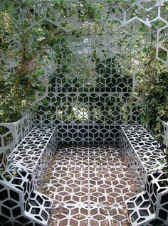 Green Oasis Marije van der Park 3 Perforated Metal Installation Shaped As An Excavator